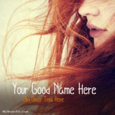 Amazing Cute Red Hair Girl Picture With Name