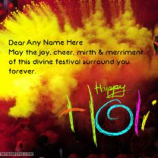Best Ever Happy Holi Wishes With Name