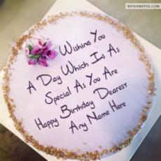 Best Wish Birthday Cake With Name