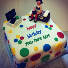 Birthday Cake for boys With Name
