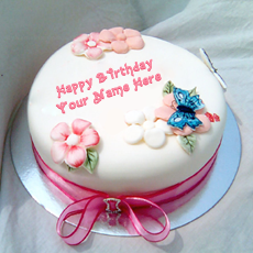 Birthday Cake for Sister With Name