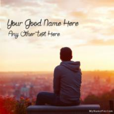 Write Name on Lonely Picture For Boys