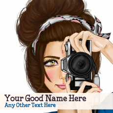 Camera Girl Drawing With Name
