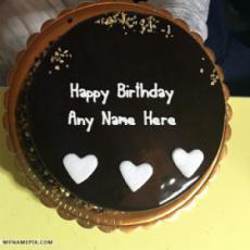 Cool Chocolate Birthday Cake With Name