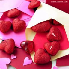 Cute Couple Alphabet Hearts With Name