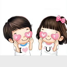 Cute Couple Hearts With Name
