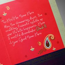 Diwali Greeting Card With Name