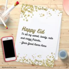 Cool Eid Mubarak Wish For Everyone With Name