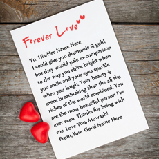 A Love Letter With Couple Name - Forever Love