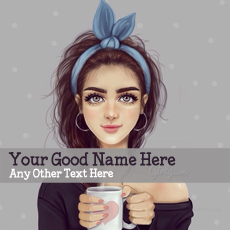 Girl with Cup With Name