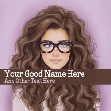Glasses Girl Drawing With Name