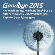 Goodbye 2016 Images With Name