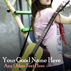 Guitar Girl With Name