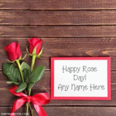 Happy Rose Day Card With Name