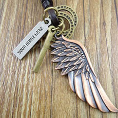 Personalized Angel Wings Pendant With Name