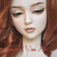 Beautiful Redhead Doll Image With Name