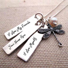 Personalized Bird Neckalce With Name