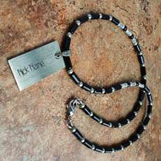 Personalized Black onyx nick name necklace With Name