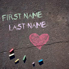 Chalk Writing With Name