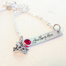Personalized Crown Necklace With Name