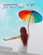 Enjoying every COLOR of life With Name