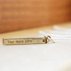 Personalized Golden Charm Pendant With Name