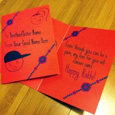 Happy Rakhi Wish Card With Name