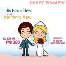 Happy Wedding With Name