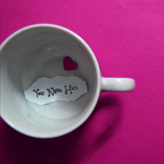 Heart Cup With Name