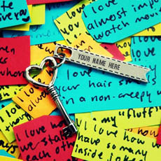 Heart Key With Name