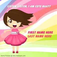 I am cute naa With Name