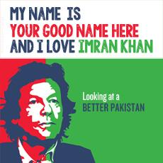 I Love Imran Khan With Name