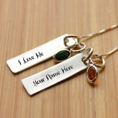 Personalized I Love Me Necklace With Name