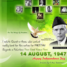 Independence Day Pakistan With Name