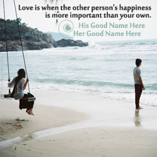 Love is Happiness With Name