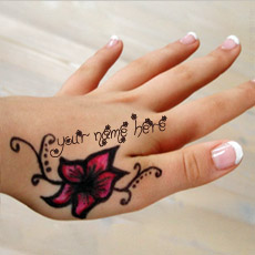 Mehndi Name Hand With Name