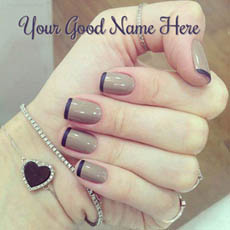 Nail Art With Name