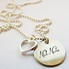 Personalized Nick Heart Necklace With Name