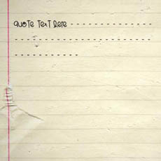 Notebook Paper With Name