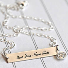 Personalized Plain Necklace With Name