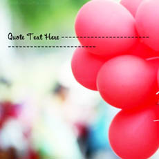 Red Baloons With Name