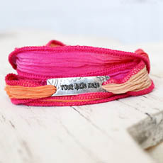 Personalized Silk Wrap Bracelets With Name