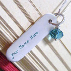 Personalized Silver Lovely Pendant With Name
