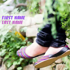 Stylish Girly Feet With Name