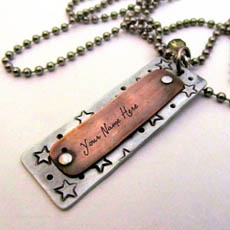 Personalized Unique Vintage Necklace With Name