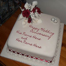 Wedding Anniversary Cake With Name