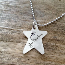 Personalized Wish Star Necklace With Name
