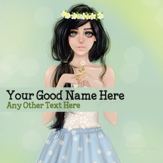 Pretty Girl Drawing With Name