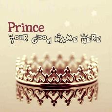 Prince Crown With Name