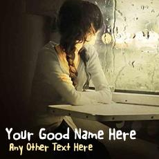 Window Girl Waiting With Name